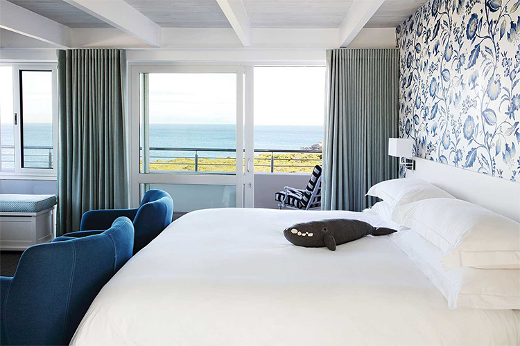 One Marine Drive Boutique Hotel Bedroom Hermanus Accommodation