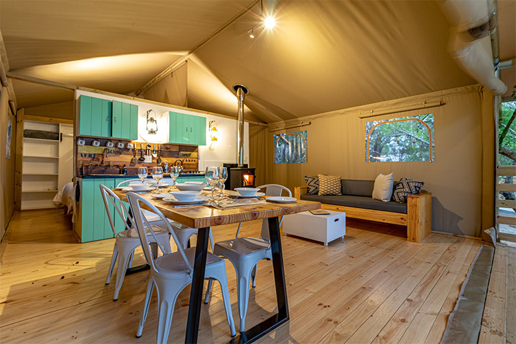 Best Glamping in The Western Cape: AfriCamps at Ingwe Tent Interior