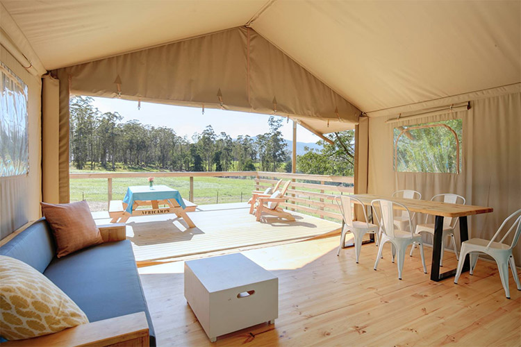 Best Glamping in The Western Cape: AfriCamps at Oakhurst Tent Interior