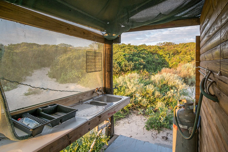Best Glamping in The Western Cape: West Coast Luxury Tents Kitchen