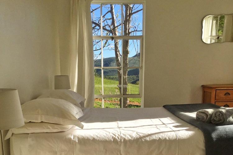 Weekend Getaways Cape Town: Die Laaitjie Farmhouse Bedroom