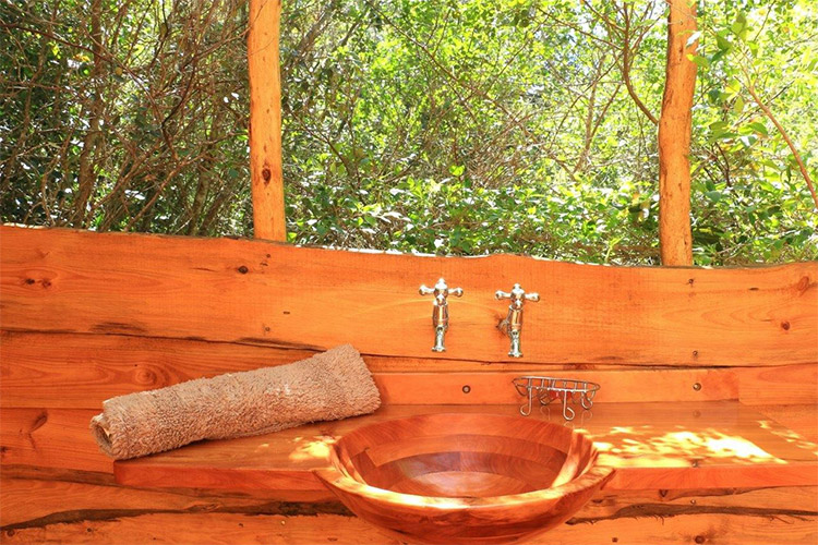 Secluded Getaways in The Cape: Bushbuck Suite at Platbos Forest Bathroom