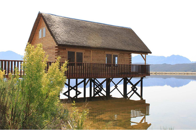 Secluded Getaways in The Cape: Platbos Log Cabins at Slanghoek Nature Reserve View