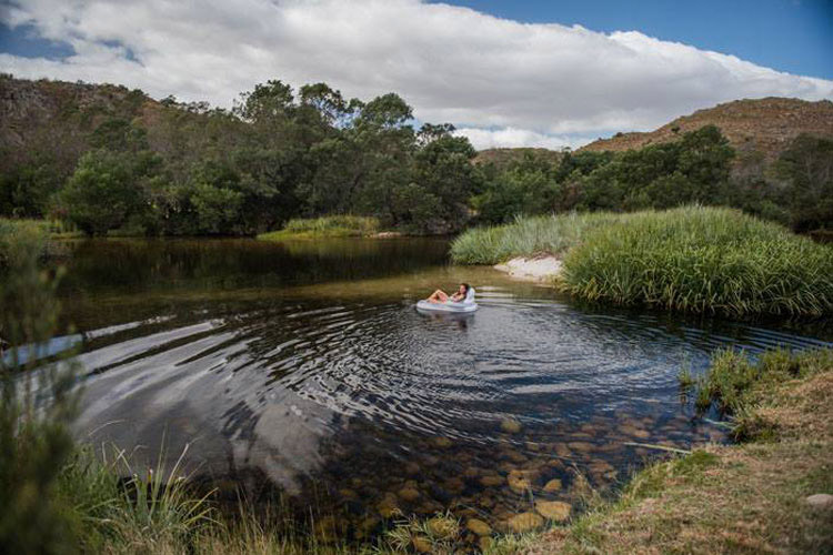 Secluded Getaways in The Cape: Rivers Own Guest Lodge Swimming