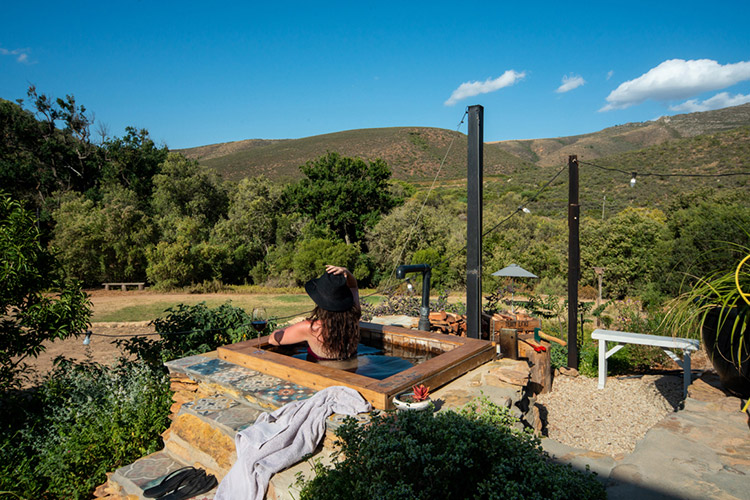 Secluded Getaways in The Cape: Southern Yurts Hot Tub