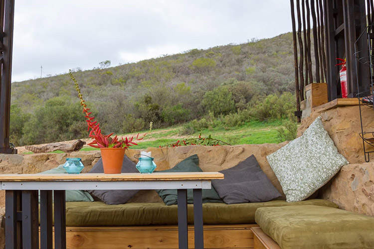 Secluded Getaways in The Cape: Southern Yurts Living Area